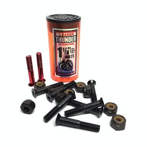 "Thunder 1 1/8"" Phillips Skateboard Hardware - Black/Red"