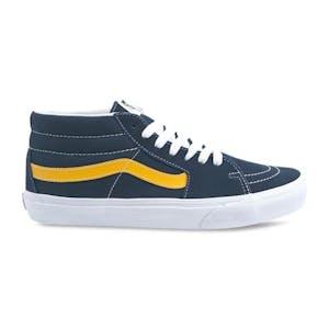 Vans Sk8-Mid Shoe - Dress Blues/Saffron