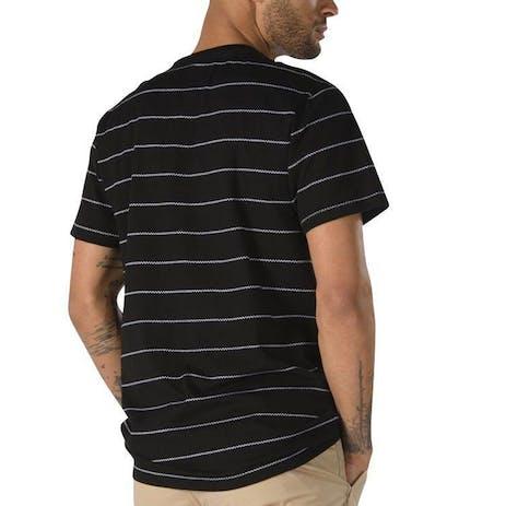 Vans Checked In Stripe Crew T-Shirt - Black/White