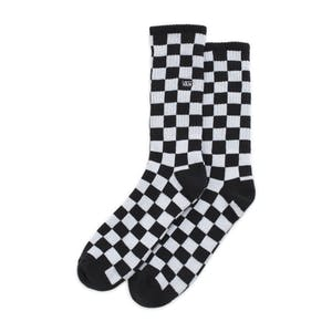 Vans Checkerboard Crew Sock - Black/White