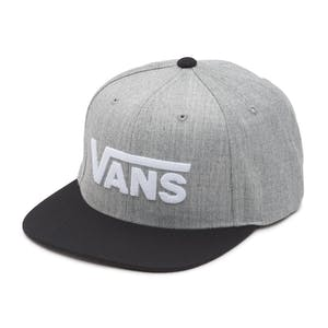 Vans Drop V II Snapback Hat - Heather Grey/Black