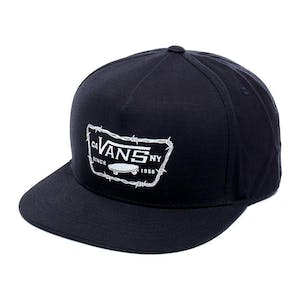 Vans Full Patch Barbed Snapback Hat - Black