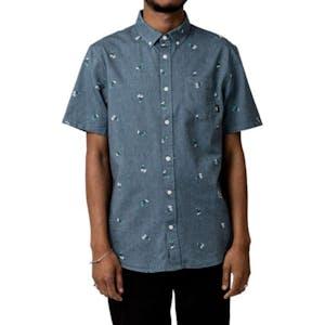 Vans Houser Button-Down Shirt - Dress Blues/Palms