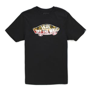 Vans OTW Logo Fill Youth T-Shirt - Black/Flames