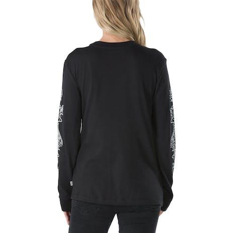 Vans Women's Rose Thorns Long Sleeve T-Shirt - Black
