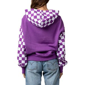 Vans Skate Check Women's Hoodie - Dewberry