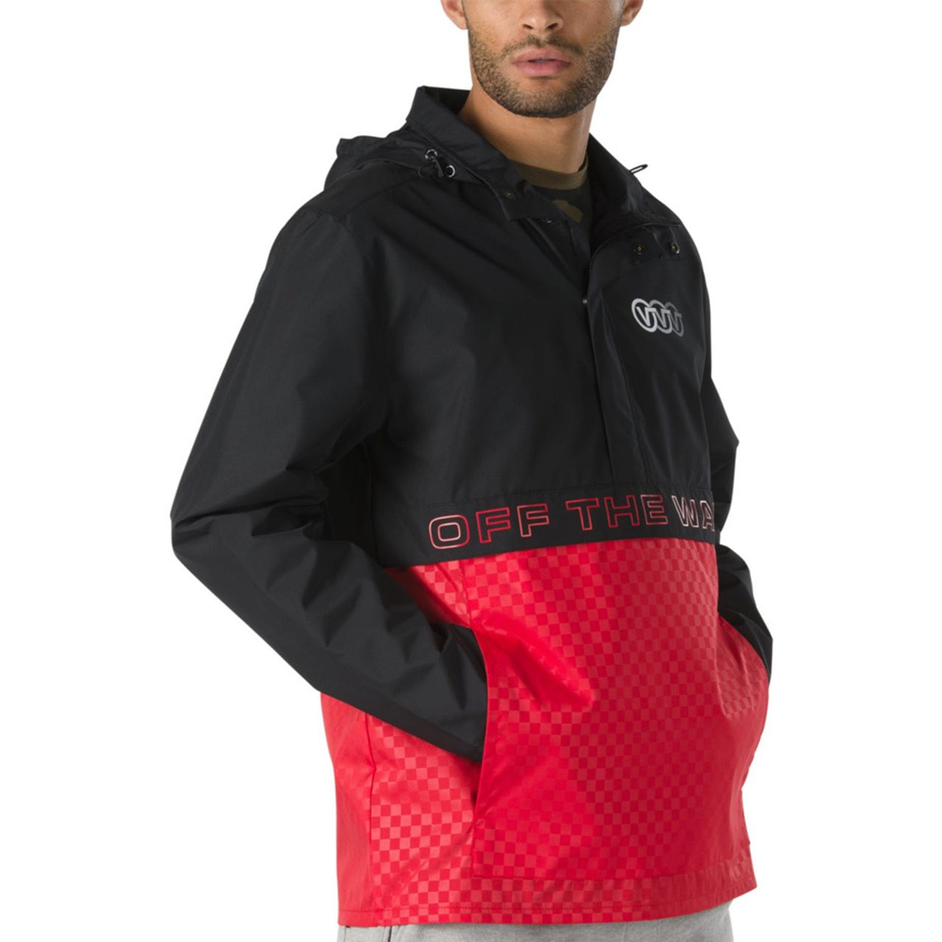 2f0c6bf2a4 Vans Triple Circle Anorak Jacket - Black/Racing Red