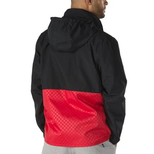 Vans Triple Circle Anorak Jacket - Black/Racing Red