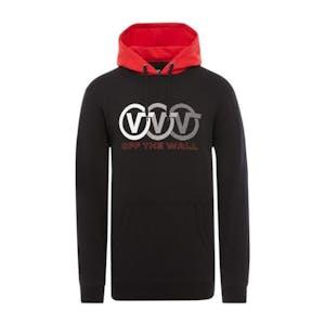 Vans Triple Circle Pullover Hoodie - Black/Racing Red
