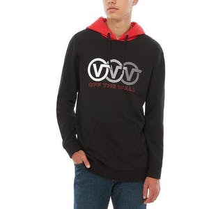 Vans Triple Circle Pullover Hoodie - Black/Racing Red
