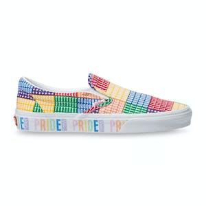 Vans Pride Classic Slip-On Skate Shoe - Multi/True White