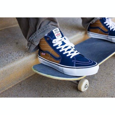 Vans Skate Sk8-Hi Reynolds Skate Shoe - Navy/Golden Brown