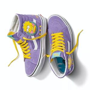 Vans x The Simpsons Sk8 Hi Skate Shoe - Lisa 4 Prez