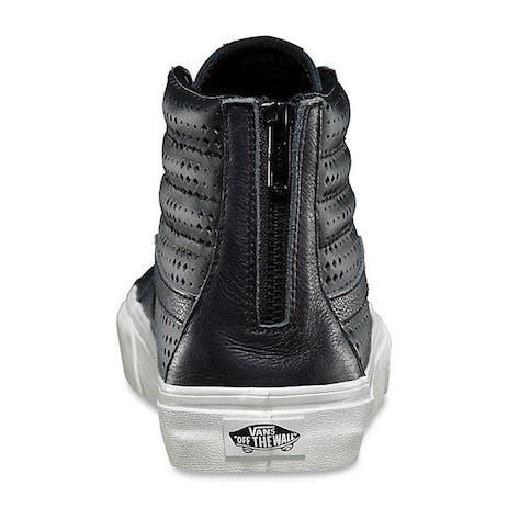 Vans Sk8 Hi Leather Perf Reissue Zip Shoe - Black/White