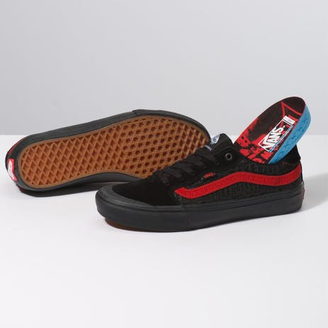 Vans x Baker Style 112 Pro Skate Shoe - Black/Black/Red