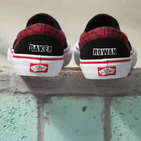 Vans x Baker Slip-On Pro Skate Shoe - Rowan Zorilla