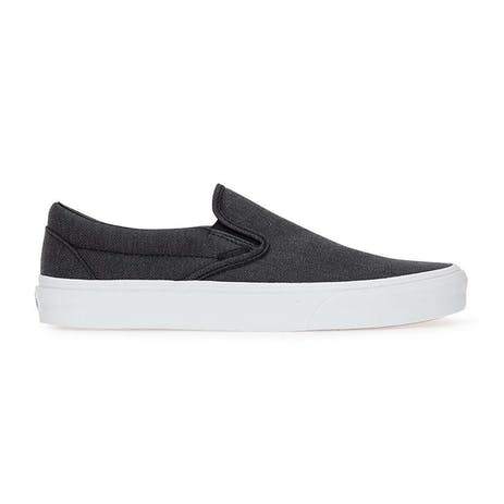 Vans Classic Slip-On Skate Shoe - Herringbone/Black/True White