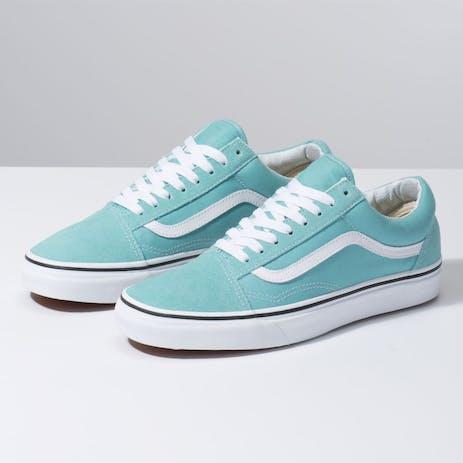 Vans Old Skool Women's Skate Shoe - Aqua Haze/True White