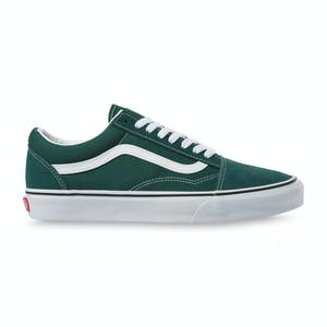 Vans Old Skool Skate Shoe - Bistro Green/True White