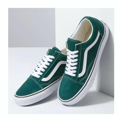 Vans Old Skool Skate Shoe - Bistro Green/True White