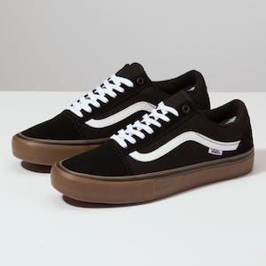 Vans Old Skool Pro Skate Shoe - Black/White/Medium Gum