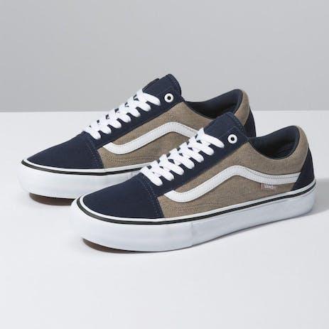 Vans Old Skool Pro Skate Shoe - Dress Blues/Portabella