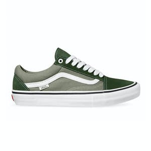 Vans Old Skool Pro Skate Shoe - Forest/White