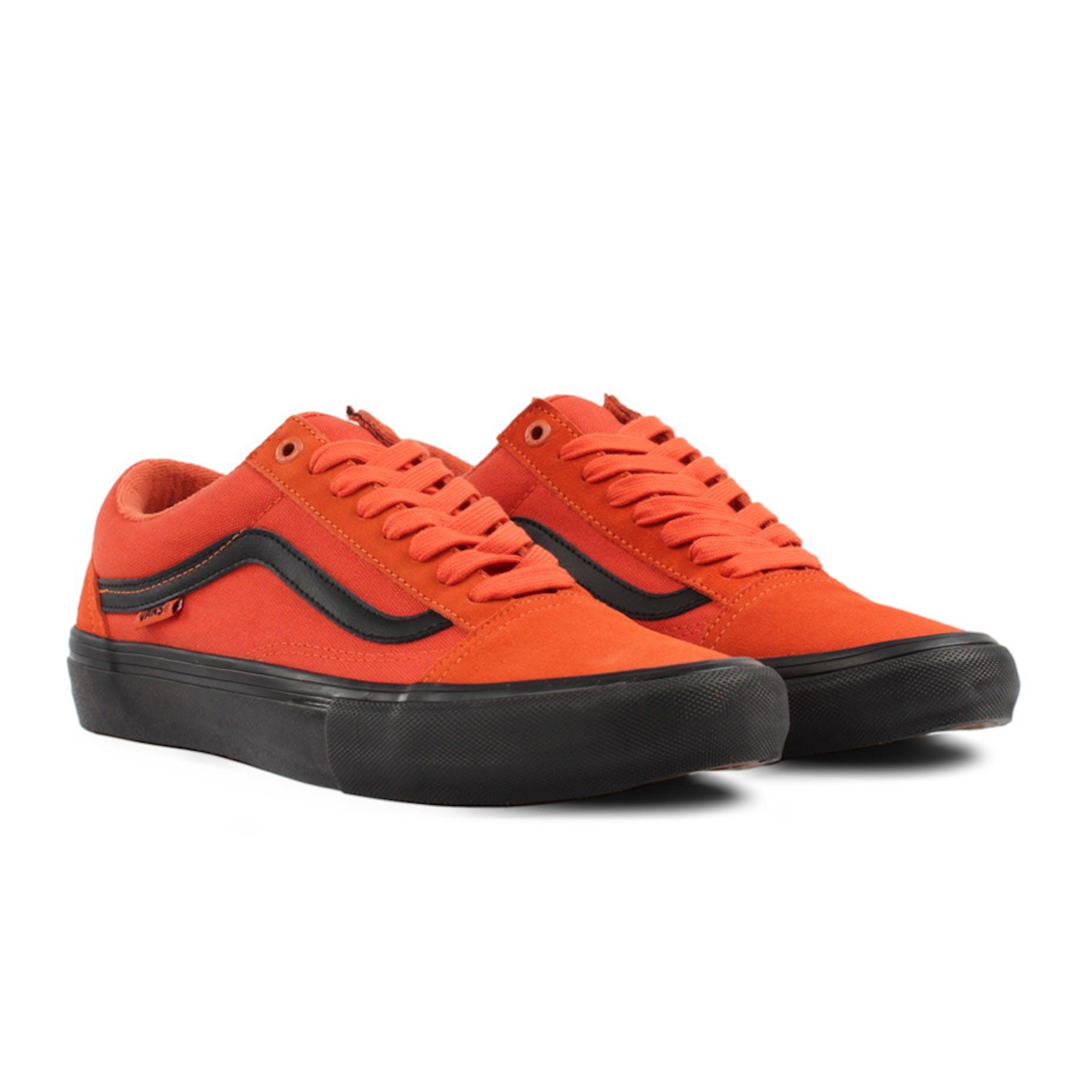 brillo encantador incomparable gran variedad de estilos Vans Old Skool Pro Skate Shoe - Koi Orange/Black