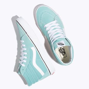 Vans Sk8 Hi Women's Skate Shoe - Aqua Haze/True White