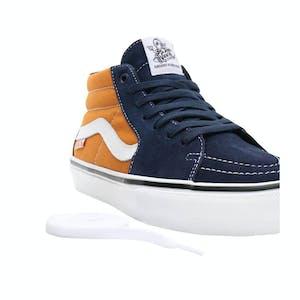 Vans Skate Grosso Mid Skate Shoe - Navy/Orange