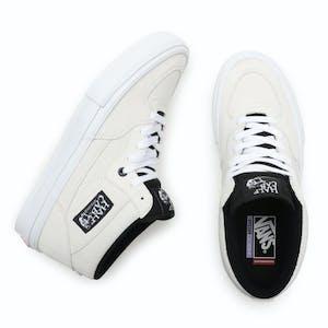 Vans Skate Half Cab Skate Shoe - Marshmallow/White