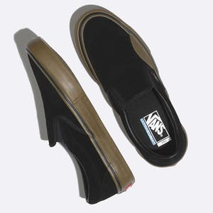 Vans Slip-On Pro Skate Shoe - Black/Gum