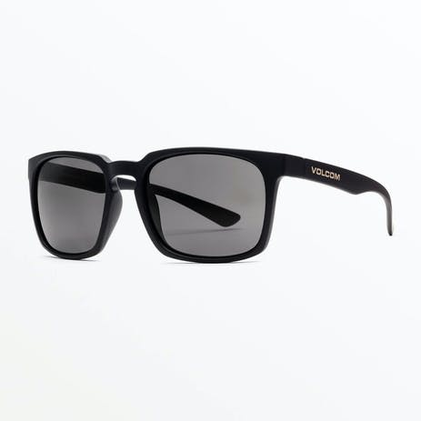 Volcom Alive Sunglasses - Matte Black / Grey Polar