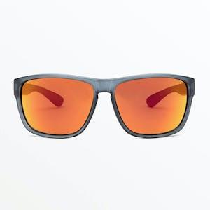 Volcom Baloney Sunglasses - Matte Smoke / Heat Mirror
