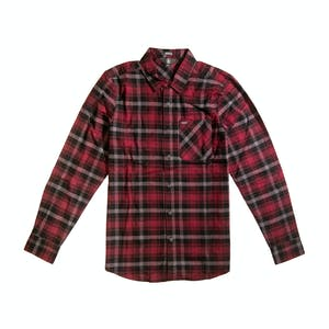 Volcom Caden Plaid Long-Sleeve Flannel Shirt - Port