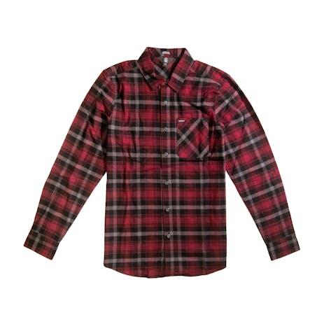 Volcom Caden Plaid Long Sleeve Flannel Shirt - Port