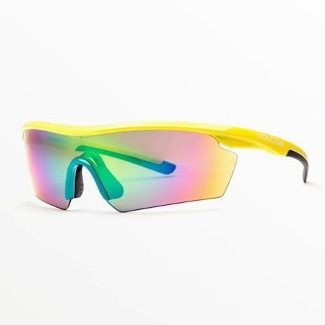 Volcom Download Sunglasses - Gloss Yellow / Rainbow mirror