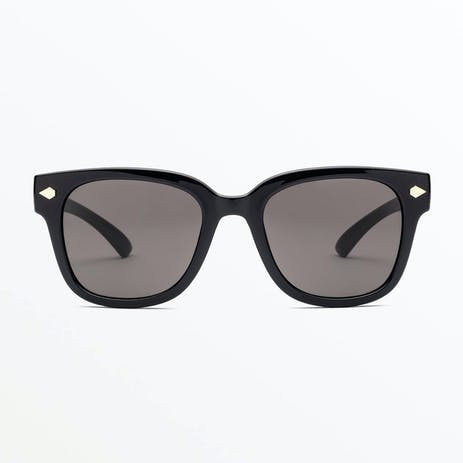 Volcom Freestyle Sunglasses - Gloss Black / Grey