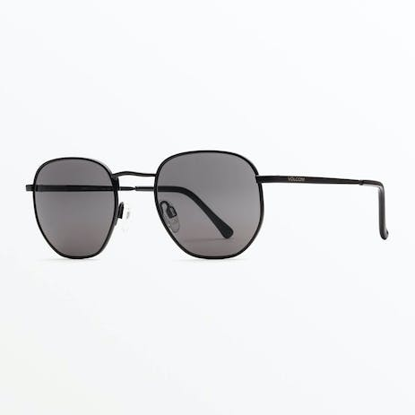 Volcom Happening Sunglasses - Matte Black / Grey