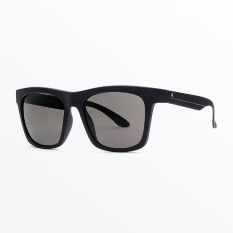 Volcom Jewel Sunglasses - Matte Black / Grey Polar