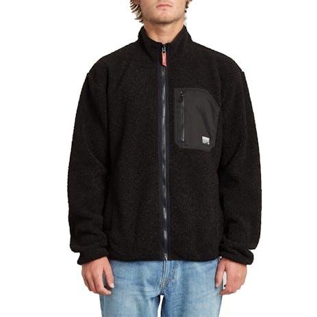 Volcom Muzzer Fuzzar Zip Fleece - Black
