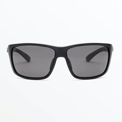 Volcom Roll Sunglasses - Matte Black / Grey Polar