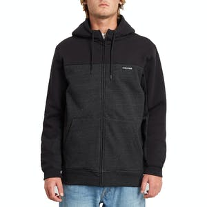 Volcom Single Stone Div Zip Hoodie - Heather Black