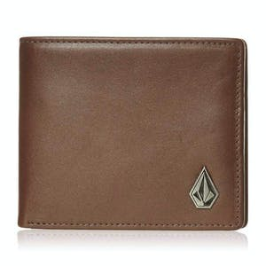 Volcom Single Stone Leather Wallet - Brown