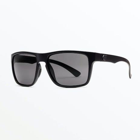 Volcom Trick Sunglasses - Matte Black / Grey Polar