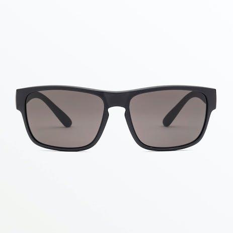 Volcom Valient Sunglasses - Matte Black / Grey