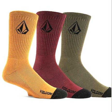 Volcom Full Stone Socks - Multi - 3 Pairs