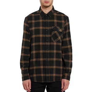 Volcom x Girl Long Sleeve Flannel Shirt - Black