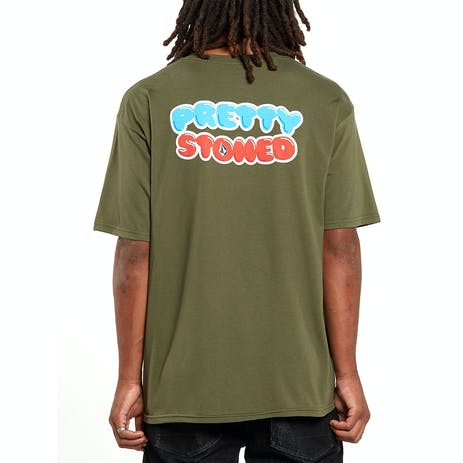 Volcom x Girl Pretty Stoned T-Shirt - Military