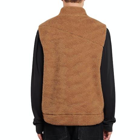 Volcom x Girl Sherpa Vest - Tobacco